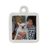 Chloe & Daisy Large Square Photo Charm, Rhodium Plated Photo Jewelry - Customer's Product with price 25.00 ID IASO1YPhRmzjfnqHE585NIwC