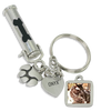 DOG BONE Pet Ashes Urn Keychain With Picture Charm, Paw Print Charm and Engraving - Customer's Product with price 57.00 ID 1C_4Tex42tw-jKdOACOzeS5X