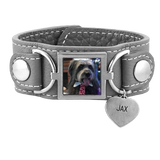 Leather Cuff Photo Bracelet Pet Memorial Jewelry - Customer's Product with price 95.00 ID SMbpNp6w8B0Nbz6smSw9K1lx