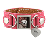 Leather Cuff Photo Bracelet Pet Memorial Jewelry - Customer's Product with price 95.00