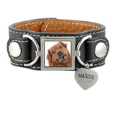 Leather Cuff Photo Bracelet Pet Memorial Jewelry - Customer's Product with price 95.00 ID TIkQcFUb8K1lULvYClJNEiql