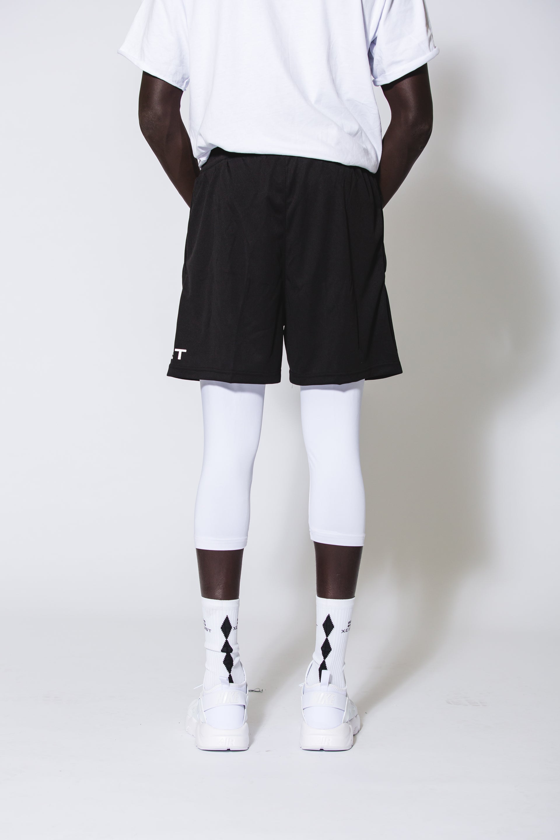 Limitless Shorts with Built in White Compression - Xeist