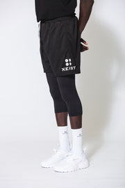 Limitless Shorts With Built in Black Compression - Xeist