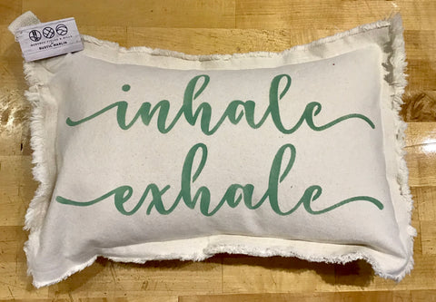 Inhale - Exhale Lumbar Pillow by Rustic Marlin