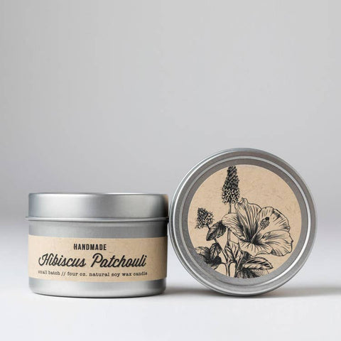 Nectar Republic - Hibiscus + Patchouli : Travel Tin Candle