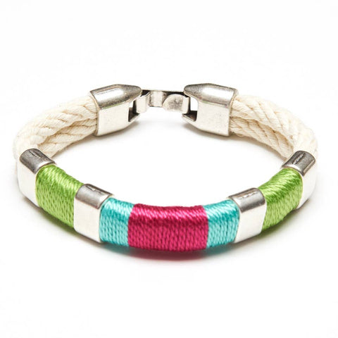 Allison Cole Jewelry - Newbury Bracelet - Ivory/Green/Turquoise/Pink/Silver