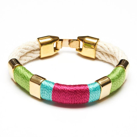 Allison Cole Jewelry - Newbury Bracelet - Ivory/Green/Turquoise/Pink/Gold
