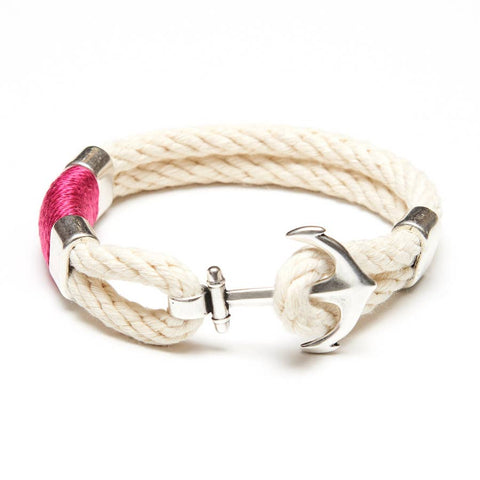 Allison Cole Jewelry - Waverly Bracelet - Ivory/Pink/Silver