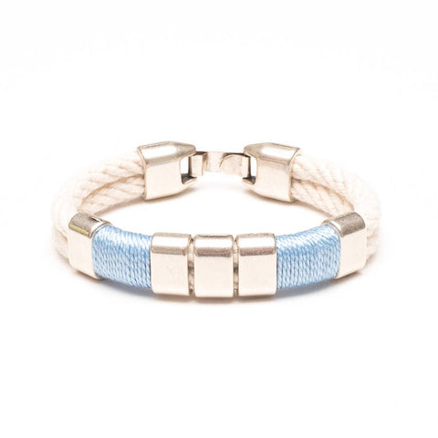 Allison Cole Jewelry - Braddock Bracelet - Ivory/Light Blue/Silver