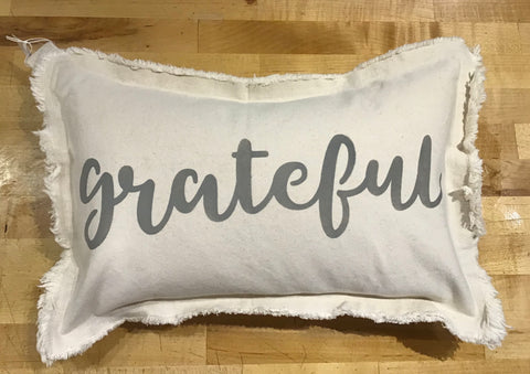 Grateful Lumbar Pillow by Rustic Marlin