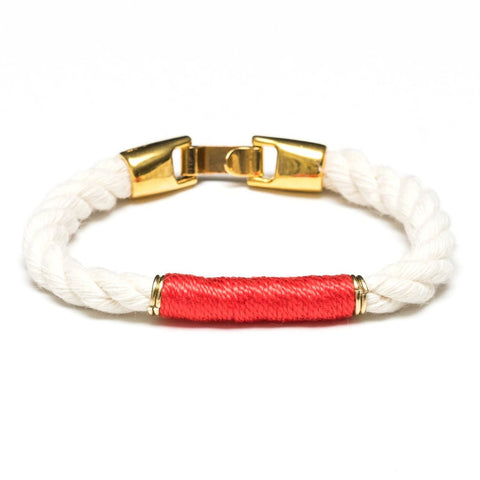Allison Cole Jewelry - Beacon Bracelet - Ivory/Coral/Gold