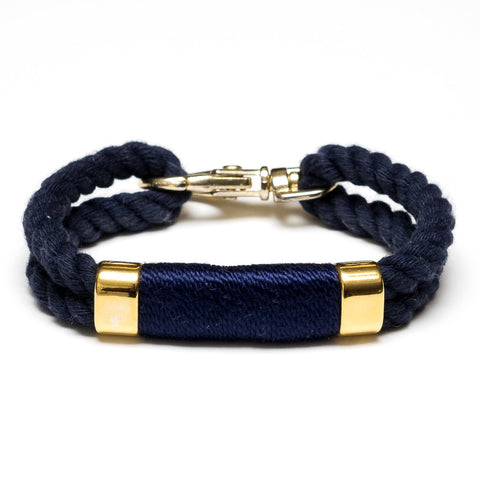 Allison Cole Jewelry - Tremont Bracelet - Navy/Navy/Gold