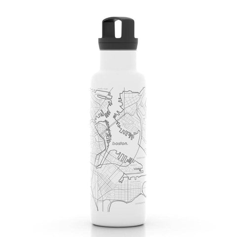 Well Told - Boston MA Map 21 oz Insulated Hydration Bottle