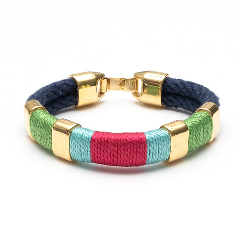 Allison Cole Jewelry - Newbury Bracelet - Navy/Green/Turquoise/Pink/Gold