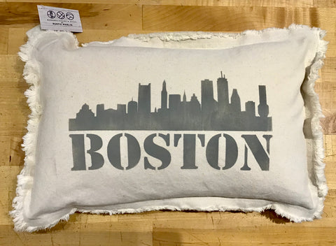 Boston Skyline Lumbar Pillow by Rustic Marlin