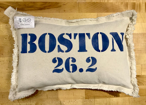 Boston 26.2 Marathon Lumbar Pillow by Rustic Marlin