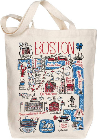 Boston Map Art Tote