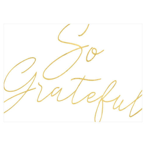 Caspari So Grateful Thank You Notes in Foil - 8 Note Cards & 8 Envelopes
