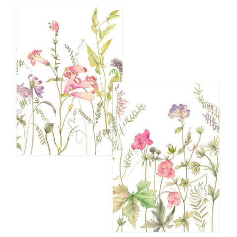 Caspari French Floral Boxed Note Cards - 8 Note Cards & 8 Envelopes