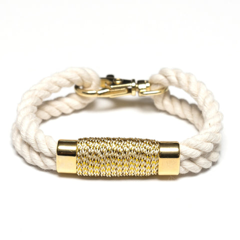 Allison Cole Jewelry - Tremont Bracelet - Ivory/Metallic Gold
