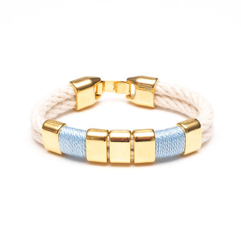 Allison Cole Jewelry - Braddock Bracelet - Ivory/Light Blue/Gold