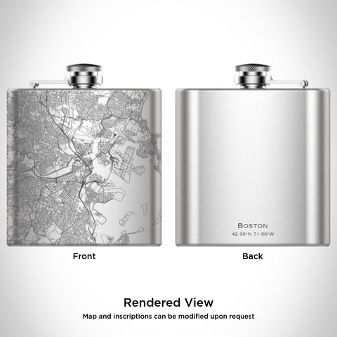 JACE.design - Boston City Map Hip Flask