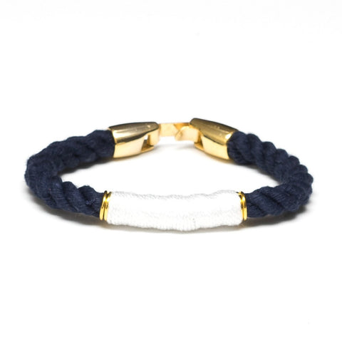 Allison Cole Jewelry - Beacon Bracelet - Navy/White/Gold