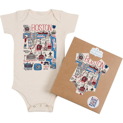 Boston Themed Organic Cotton Baby Onesies & T-Shirts