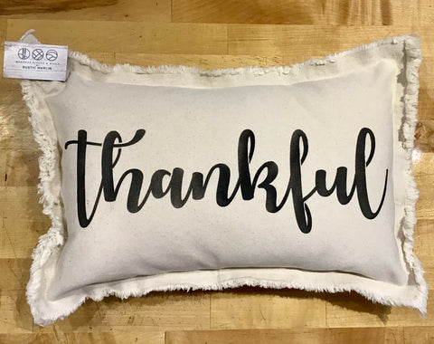 Thankful Lumbar Pillow by Rustic Marlin