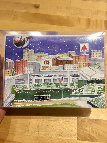 Boxed Christmas Cards Set 12 ~ Fenway Park
