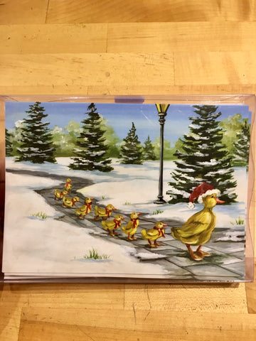 Boxed Christmas Cards Set 12 ~ Ducklings
