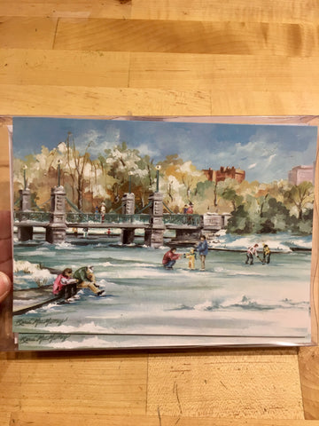 Boxed Christmas Cards Set 12 ~ Skaters on the Lagoon