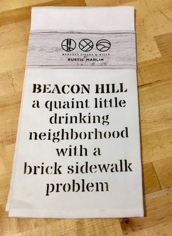 Exclusive Tea Towel Beacon Hill in gray by Rustic Marlin