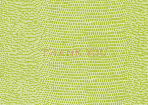 Caspari Thank You Notes Lizard Green in Foil - 8 Note Cards & 8 Envelopes