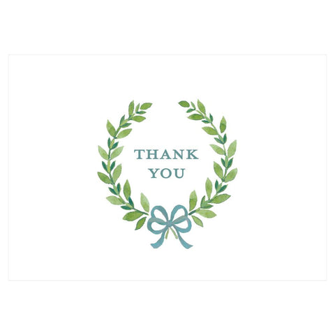 Caspari Thank You Wreath Thank You Notes - 8 Note Cards & 8 Envelopes