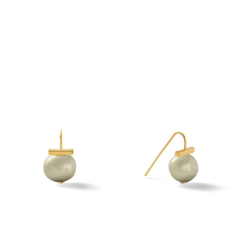 Catherine Canino Classic Baby Pebble Pearls Earrings (14 karat polished Gold)