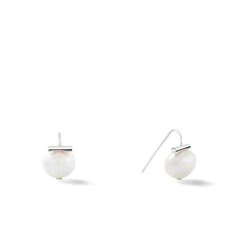 Catherine Canino Classic Baby Pebble Pearls Earrings (polished 925 Sterling Silver)