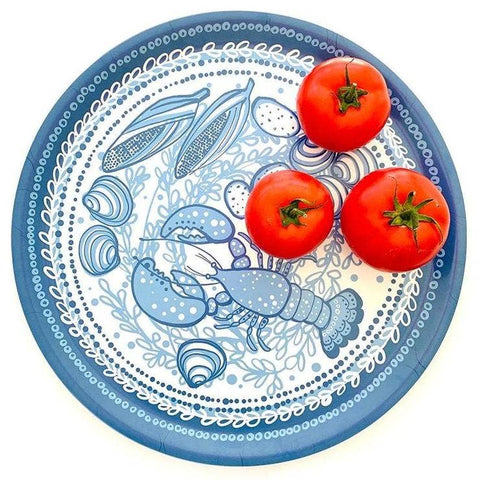 Sweetgum Home - Lobster Serving Tray- Wood and Melamine