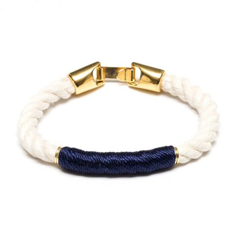 Allison Cole Jewelry - Beacon Bracelet - Ivory/Navy/Gold