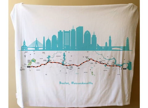 Maritime Tribes - Boston Marathon Route Blanket