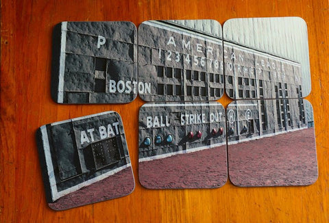 Fenway Scoreboard Coasters - Set of 6