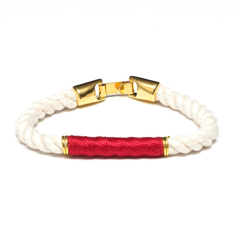 Allison Cole Jewelry - Beacon Bracelet - Ivory/Red/Gold