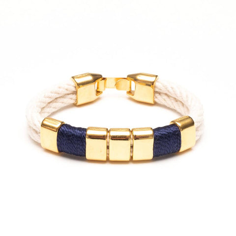 Allison Cole Jewelry - Braddock Bracelet - Ivory/Blue/Gold
