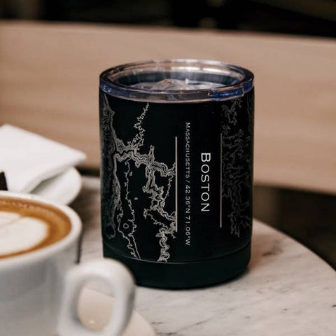 JACE.design - Boston City Map Insulated Cup in Matte Black