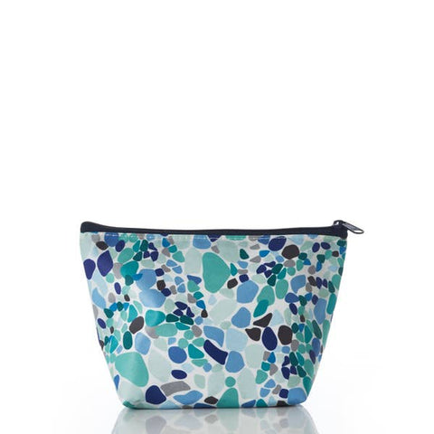 Sea Bags Small Cosmetic Bag - Sea Glass Print