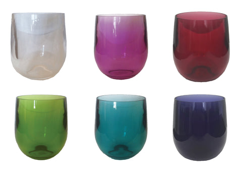 Acrylic Stemless Glassware by Caspari