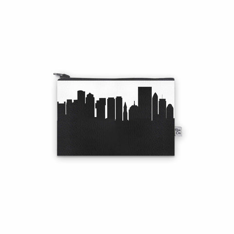 Boston MA Skyline Mini Wallet - Vegan Leather