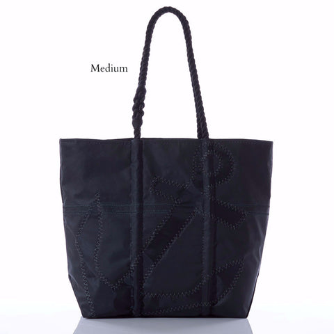 Black-on-Black Anchor Tote Bag by Sea Bags