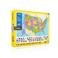 New York Puzzle Company - USA Kids Map 300 pc Puzzle