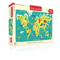 New York Puzzle Company - World Map Kids 3+ 36 pc Puzzle